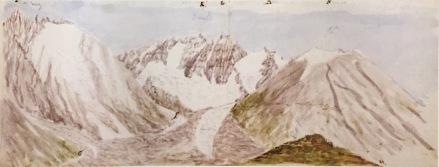 Haast - Ramsay Glacier from Meins Knob 1866